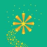 Explosão abstrata das estrelas ilustração royalty free