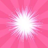 Explosão abstrata do rosa do fundo de uma estrela com raios Imagens de Stock Royalty Free
