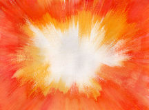 Explosão alaranjada da aguarela Foto de Stock