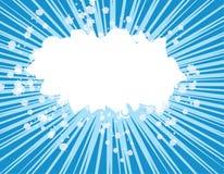 Explosão azul Fotografia de Stock Royalty Free