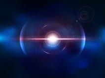 Explosão azul do espaço, explosão do cosmos ilustração royalty free
