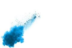 Explosão azul do pó da cor imagem de stock
