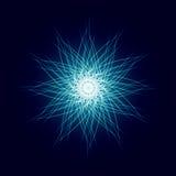 Explosão brilhante do espaço da estrela da explosão do poder da energia Fotos de Stock