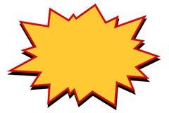 Explosão cômica do amarelo ilustração stock
