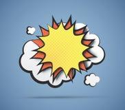 Explosão cômica ilustração stock