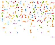Explosão colorida abstrata dos confetes Confetes que caem para baixo Ilustração lisa do vetor no fundo branco ilustração royalty free