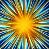 Explosão colorida do fundo fantástico abstrato ilustração stock