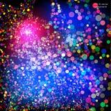 Explosão colorida dos confetes Ilustração do vetor Fotografia de Stock Royalty Free