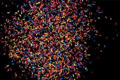 Explosão colorida dos confetes Vetor granulado colorido da textura Fotografia de Stock Royalty Free