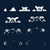 Explosão da animação Animação do fumo Sprite para jogos ilustração royalty free