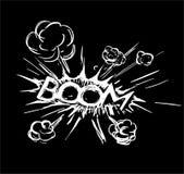 Explosão da banda desenhada Fotos de Stock