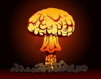Explosão da bomba nuclear Imagens de Stock Royalty Free