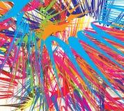 Explosão da cor ilustração stock