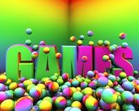 Explosão da cor dos jogos Fotos de Stock