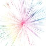 Explosão da explosão das estrelas do espectro no conceito de cristal a do espaço da galáxia ilustração royalty free