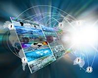 Explosão da estrela do Internet Imagem de Stock Royalty Free