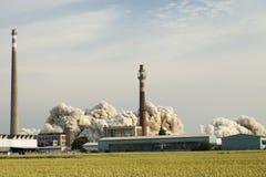 Explosão da fábrica fotos de stock