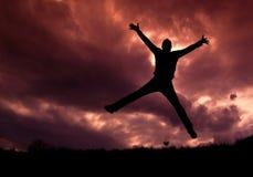 Explosão da felicidade Imagens de Stock Royalty Free