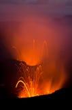Explosão da lava do vulcão Foto de Stock Royalty Free