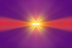 Explosão da luz amarela Foto de Stock Royalty Free