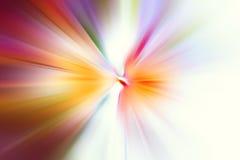 Explosão da luz colorida Foto de Stock
