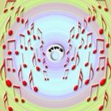 Explosão da música ilustração royalty free
