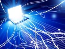 Explosão da mente do computador Imagem de Stock Royalty Free