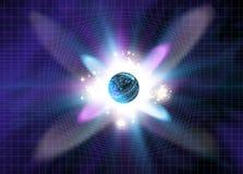 Explosão da partícula ilustração do vetor