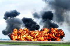 Explosão da pista de decolagem (demonstração) Fotos de Stock