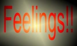 Explosão da ruptura do texto da psicologia dos sentimentos ilustração stock
