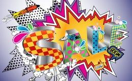 Explosão da venda em um estilo da banda desenhada Imagens de Stock Royalty Free