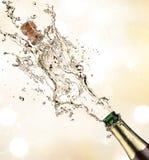Explosão de Champagne foto de stock royalty free