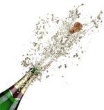 Explosão de Champagne Fotografia de Stock