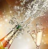Explosão de Champagne Imagens de Stock