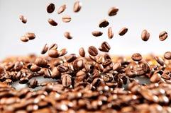 Explosão de feijões de café, conceito da música Imagens de Stock