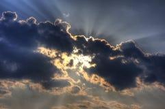 Explosão de Sun Fotografia de Stock