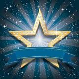 Explosão do azul da estrela de Dimond Imagem de Stock