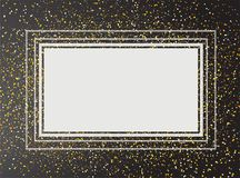Explosão do brilho do ouro no fundo preto Fotos de Stock Royalty Free