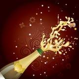explosão do champanhe ilustração royalty free