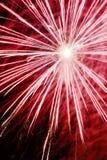 Explosão do fogo-de-artifício Fotografia de Stock