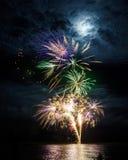 Explosão do fogo de artifício Fotografia de Stock
