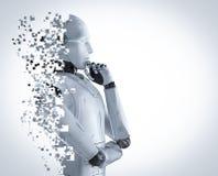 Explosão do robô do Ai ilustração royalty free