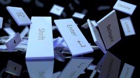 Explosão do teclado Imagem de Stock Royalty Free