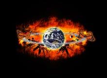 Explosão do universo Imagem de Stock