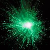 Explosão do verde da luz fotografia de stock royalty free