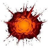 Explosão dos desenhos animados ilustração do vetor