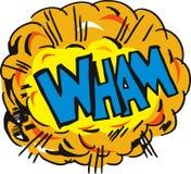 A explosão dos desenhos animados wham Imagens de Stock Royalty Free