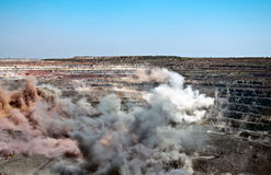 Explosão em aberto - mina do molde Fotos de Stock Royalty Free