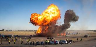 Explosão em um simulacro da emergência fotografia de stock royalty free