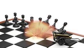 Explosão em uma posição do oponente Imagens de Stock Royalty Free